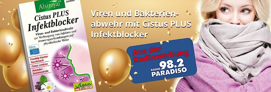 """""""Alsiroyal Cistus Plus Infektblocker, bekannt aus der Radiowerbung"""""""