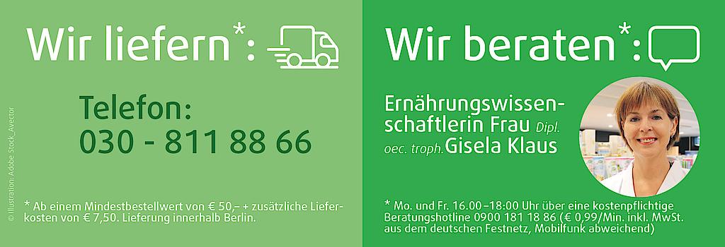 Kostenpflichtige Beratungshotline 0900 181 18 86 (€ 0,99/Min. inkl. MwSt. aus dem deutschen Festnetz, Mobilfunk abweichend)