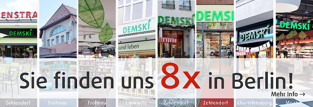 Sie finden das Reformhaus Demski acht Mal in Berlin