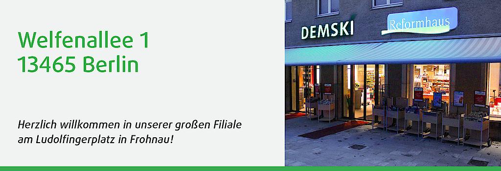 Demski-Filiale in der Welfenallee in Frohnau