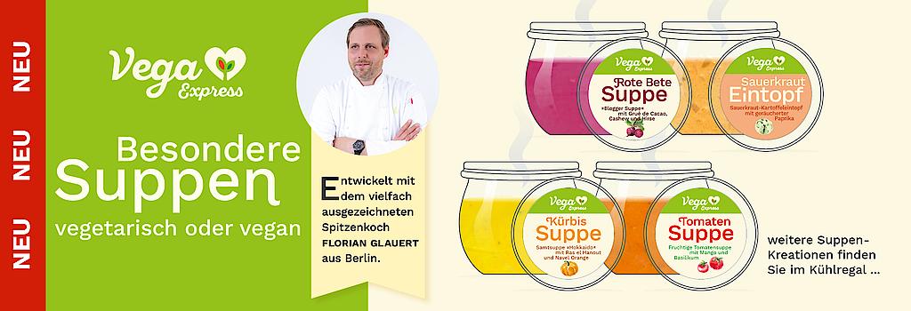 """""""Besondere Suppen vegetarisch oder vegan von Vega Express"""""""