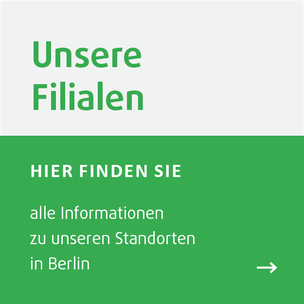 Insgesamt gibt es acht DEMSKI-Filialen in Berlin: Zehlendorf, Charlottenburg, Frohnau, Lankwitz, Moabit