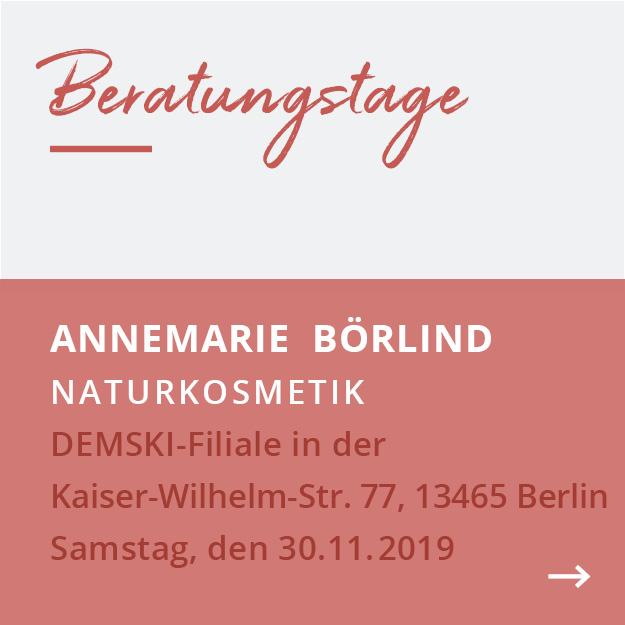 Annemarie Börlind Beratertage im Reformhaus Demski