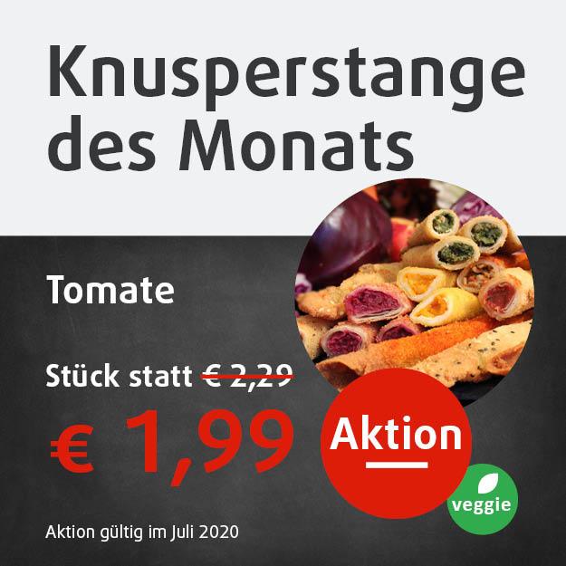 vegetarische Knusperstange Tomate 1,99 Euro in Aktion