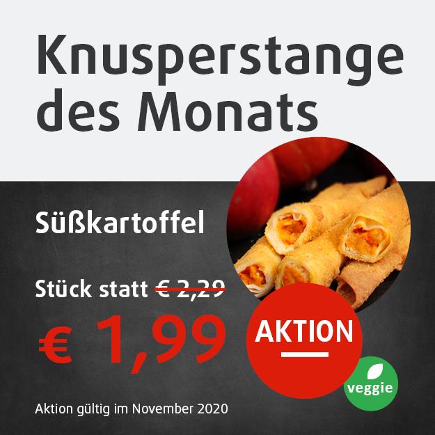 Knusperstang des Monats Süsskartoffel statt Euro 2,29 jetzt in Aktion Euro 1,99
