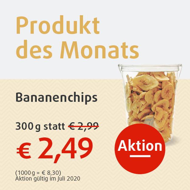 Bananenchips 300g für 2,49 Euro in Aktion
