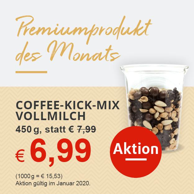Nussmischung Coffee-Kick-Mix Vollmilch in Aktion