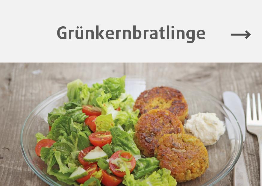 Rezept für vegetarische Bratlinge, Gruenkernschrot