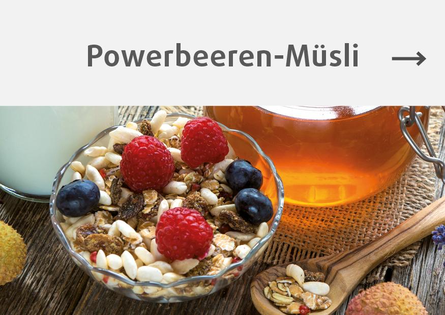 Rezept für Müsli mit Powerbeeren