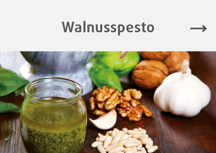 Rezept fuer Walnusspesto mit Walnüssen